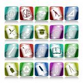 Постер, плакат: Растровые набор кнопок Интернет 20 элементов