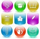Raster icons of education