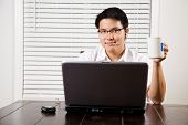 Working Asian Entrepreneur