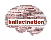 Hallucination mental health icon design