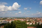 foto of regnitz  - The German City Bamberg from the top - JPG