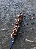 BOSTON - OCTOBER 21: New Trier High School races in the Head of Charles Regatta, Marin Rowing Associ