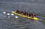 Chaminade High School races in the Head of Charles Regatta