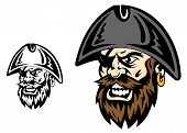 foto of buccaneer  - Angry corsair and pirate captain for mascot design - JPG