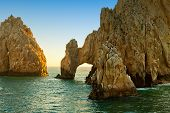 picture of cortez  - The natural rock formation The Arch in Cabo San Lucas Mexico  - JPG