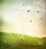 pic of nymphs  - Butterflies in a fantasy landscape  - JPG