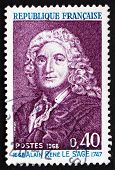 Postage Stamp France 1968 Alain Rene Lesage, Novelist And Playwr