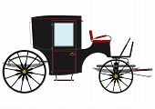 picture of stagecoach  - Silhouette of an old black horse - JPG