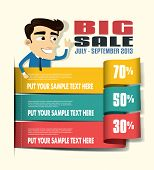 Sale Promotion Design Template poster