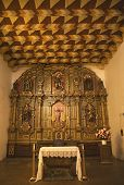 stock photo of assis  - Chapel Altar and Statues Interior Mission Dolores Saint Francis De Assis San Francisco California