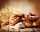 pic of ears  - Bakery Bread on a Wooden Table - JPG