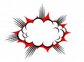 pic of explosion  - Vector explosion cloud isolated on white background - JPG