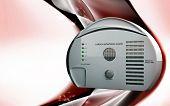 image of smoke detector  - Digital illustration of Carbon monoxide alarm in colour background - JPG