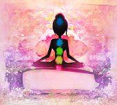 image of padmasana  - Yoga lotus pose - JPG