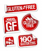 Gluten free food stickers set.