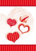 stock photo of ero  - stylized red hearts on a white background - JPG