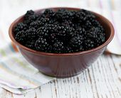 Bowl Of Blackberries