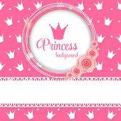 picture of princess crown  - Pink Princess Crown Background Vector Illustration - JPG
