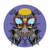 picture of bio-hazard  - The creative design of Crazy gas mask bio hazard monster - JPG