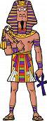 pic of pharaoh  - Ancient Egyptian Pharaoh on white background vector illustration - JPG