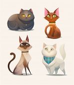 stock photo of cartoon character  - Cat characters - JPG