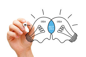 picture of sketche  - Hand sketching Best Idea light bulbs concept with black marker - JPG