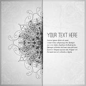 picture of indian wedding  - Vintage vector pattern - JPG