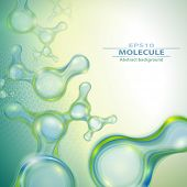 picture of molecules  - Molecules abstract background - JPG
