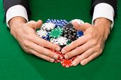 foto of poker hand  - casino - JPG