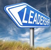 image of leader  - leadership follow team leader or way to success concept business leader or market leader business competition  - JPG