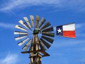 stock photo of texas flag  - a texas windmill - JPG