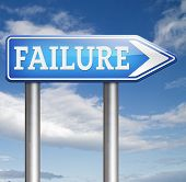 pic of fail job  - failure in test or exam fail in a task job or examination - JPG