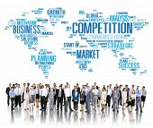 stock photo of competition  - Competition Market Global Challenge Contest Concept - JPG