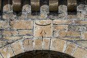 pic of templar  - detail of cross tau Templar in Ponferrada Castle - JPG
