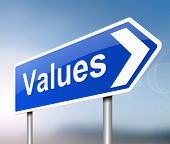 image of scruple  - Illustration depicting a sign with a values concept - JPG