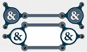 picture of ampersand  - Two vector abstract text boxes for your text and ampersand - JPG