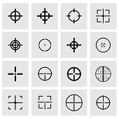 pic of crosshair  - Vector crosshair icon set on grey background - JPG