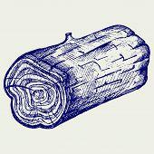 stock photo of cross-section  - Cross section of tree stump - JPG