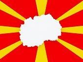 stock photo of macedonia  - Map of Macedonia - JPG
