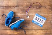 picture of medal  - Pair of running shoes - JPG
