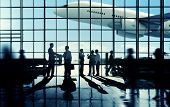 picture of commutator  - Business Travel Handshake Commuter Terminal Airport Concept - JPG
