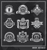 image of drawing beer  - Beer icon chalkboard set  - JPG