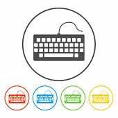 picture of qwerty  - keyboard icon - JPG