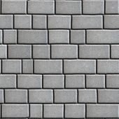 image of paving  - Concrete Paving Slabs Gray as Rectangles and Squares - JPG