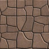 picture of paving  - Brown Figured Paving Slabs of Different Value which Imitates Natural Stone - JPG