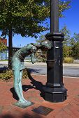 """image of asheville  - """"Childhood"""" statue in downtown Asheville, North Carolina - JPG"""