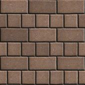image of slab  - Concrete Paving Slabs Brown as Rectangles and Squares - JPG