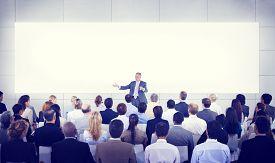 stock photo of seminar  - Diversity Business People Seminar Presentation Team Concept - JPG