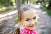������, ������: Little Girl Enjoying A Hike Through The Woods