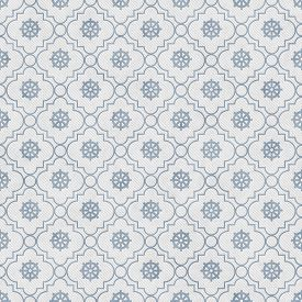 stock photo of dharma  - Pale Blue and White Wheel of Dharma Symbol Tile Pattern Repeat Background that is seamless and repeats - JPG